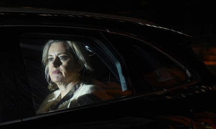 Amber Rudd leaving the Houses of Parliament last week.