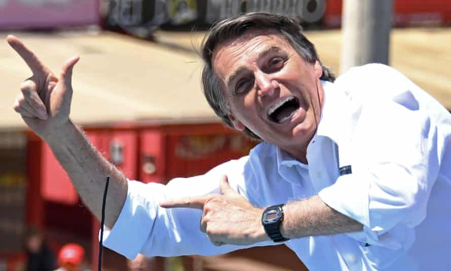 President Jair Bolsonaro in 2018. 'The people are pumped,' Bolsonaro bragged on Sunday.