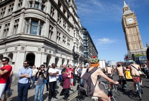 London To Brighton Cycle 2017 >> Flash mob: the World Naked Bike Ride comes to London – in pictures | Cities | The Guardian