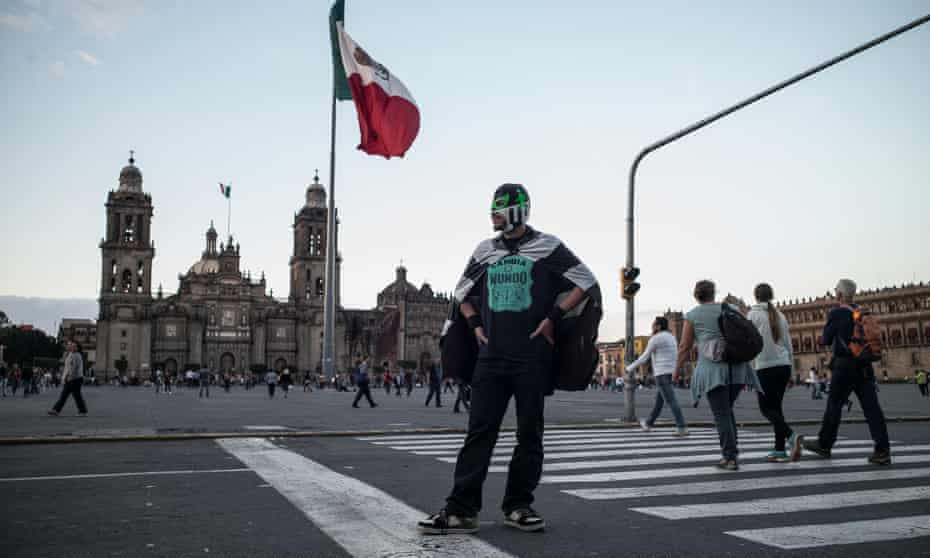 Peatónito on duty in the Zócalo: 'In Mexico City, just moving from A to B is the most hazardous and inefficient thing imaginable.'