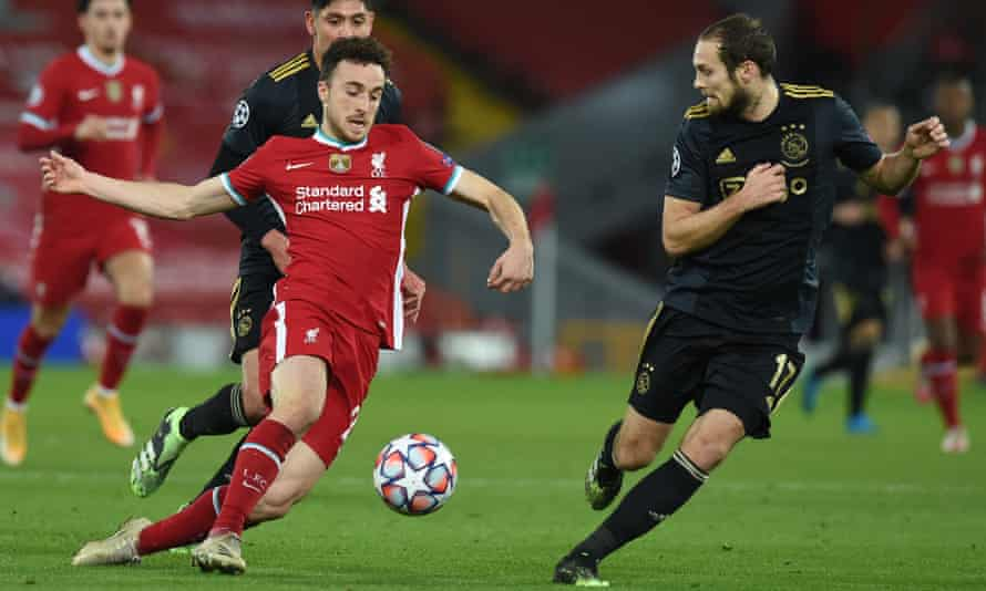 Diogo Jota is expected to play against his old club Wolves on Sunday.