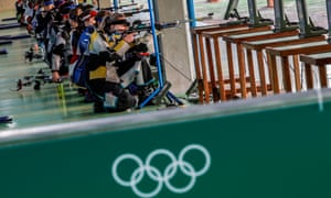 Olympic Games 2016 Shootingepa05474286 Athletes take aim during the women's 50m Rifle 3 Positions qualification competition of the Rio 2016 Olympic Games Shooting events at the Olympic Shooting Centre in Rio de Janeiro, Brazil, 11 August 2016. EPA/VALDRIN XHEMAJ