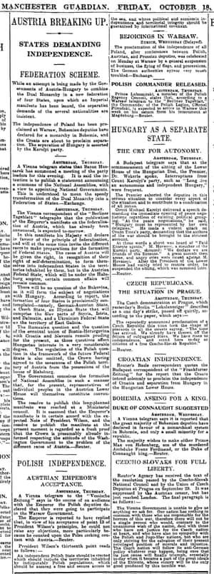 Manchester Guardian, 18 October 1918.