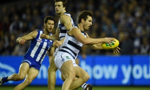 Geelong forward Daniel Menzel feels the Etihad Stadium surface is partly to blame for an ankle injury he suffered in the Cats' win over North Melbourne on Saturday.