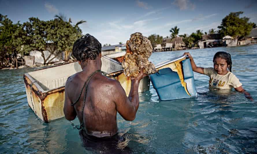 Villagers in Kiribati