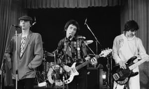 Buzzcocks ... (from left) Howard Devoto, Pete Shelley and Steve Diggle have a brief reunion at Lesser Free Trade Hall, Manchester in July 1978.