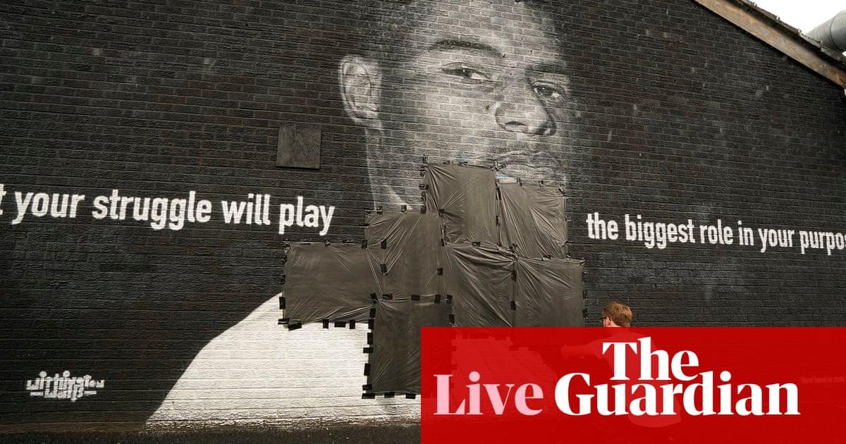 Euro 2020: abuse of England players condemned as Rashford mural vandalised – live!