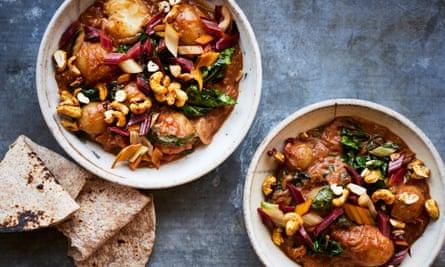 Anna Jones' Sri Lankan potato, coconut and chard curry.