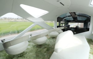 A peek inside the futuristic observatory car