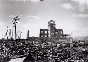 Hiroshima, 1945 Hiroshima A-bomb Dome photographed by U.S. military