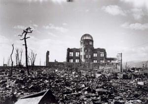 Hiroshima, 1945 Hiroshima A-bomb Dome photographed by U.S. military