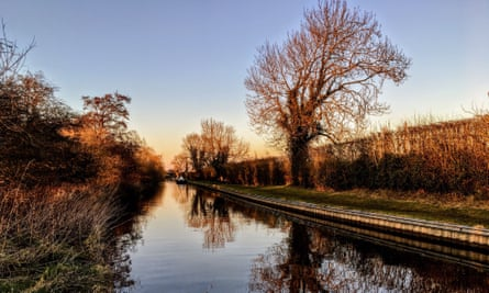 Llangollen Canal looking from Swanley towards Burland in Cheshire
