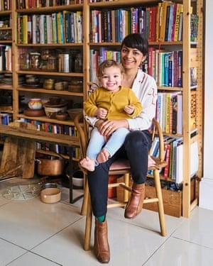 Meera Sodha and her daughter, Arya.
