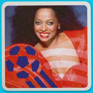 Weird World Cup design by Kill Cooper featuring Diana Ross's missed goal  at the Opening Ceremony. World Cup 1994, USA