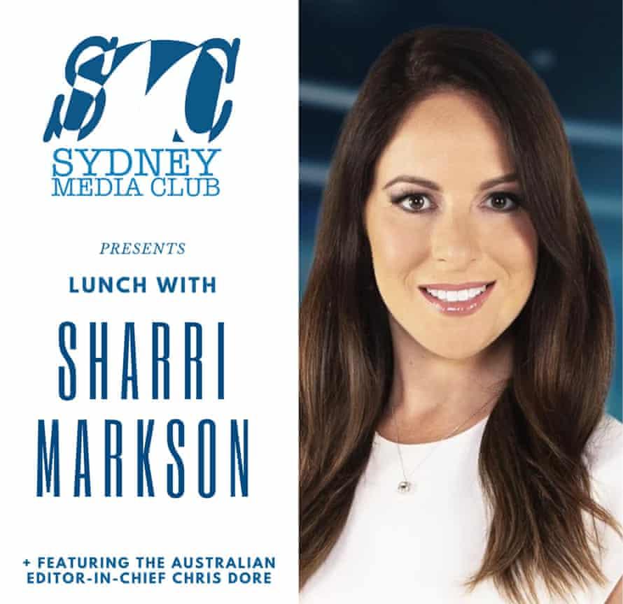 Lunch with Sharri Markson  invitation