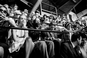 Allen Ginsberg and WIlliam S. Burroughs inside the 1968 Democratic National Convention. From CHICAGO 68: The Whole World is Watching by Michael Cooper & Terry Southern