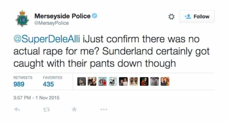Screengrab of deleted tweet