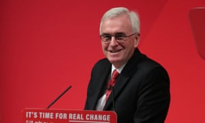 John McDonnell speaking at the Royal Society of Medicine in London.