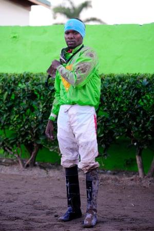 Former champion jockey Dane Nelson after a race