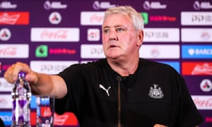 Steve Bruce feels the heat in Shanghai where he has taken charge of the Newcastle squad just three weeks before the start of the Premier League season.