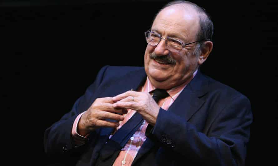 Italian writer and academic Umberto Eco talks about his book The Prague Cemetery in Cologne, Germany, 2011.