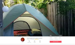 A tent for rent currently listed in Berkeley.