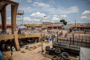 The outside of Gulu main market in northern Uganda during the coronavirus lockdown