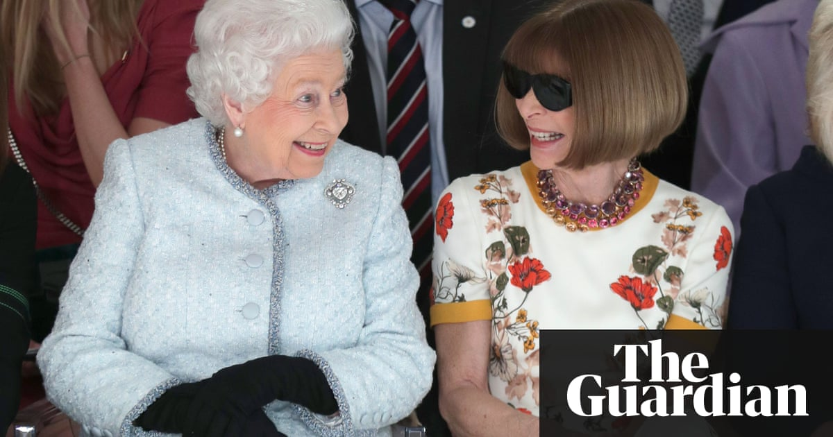 Queen makes surprise appearance at London fashion week | Fashion | The  Guardian