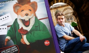 Boom boom! Will Adamsdale in Edinburgh where his nemesis Basil Brush has been a fringe hit.