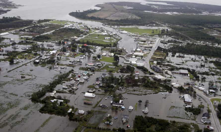 Flood waters from Hurricane Florence swept North Carolina. The hurricane killed 50 and caused $22bn in damages.