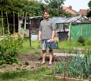 Barney Norris in his allotment