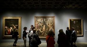 Titian's Flaying of Marsyas, center.