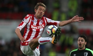 Peter Crouch is Stoke's joint-top scorer this season.