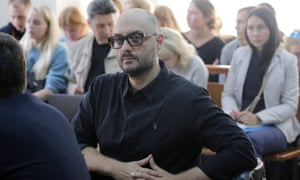 The Russian film and stage director Kirill Serebrennikov in the Moscow city court earlier this month.