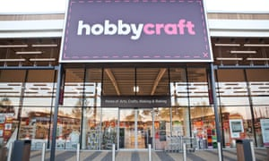 Hobbycraft says visits to its online ideas page had tripled since the lockdown.
