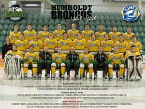 The Humboldt Broncos team.