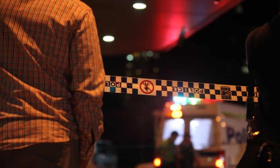 Police at the scene of a fatal shooting in Parramatta Friday, 2 October 2015.