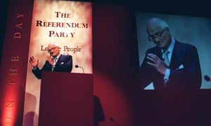 James Goldsmith, leader of the Referendum party, the forerunner of Ukip, and Zac's father.