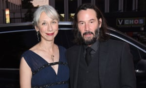 Keanu Reeves pictured with Alexandra Grant in Los Angeles on 2 November
