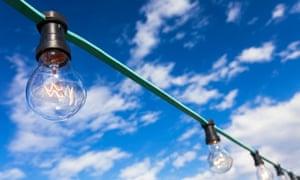 A string of lightbulbs