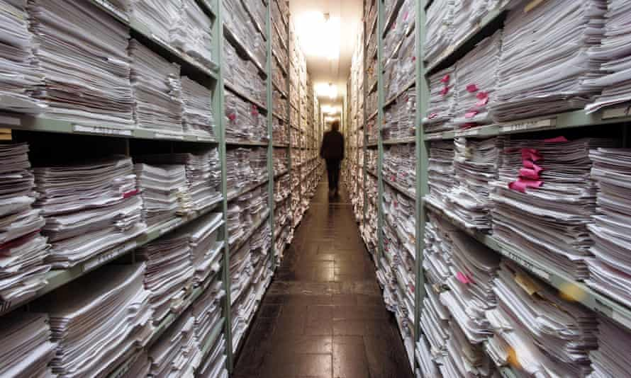 The correspondence archive at the International Tracing Service in Bad Arolsen, Germany