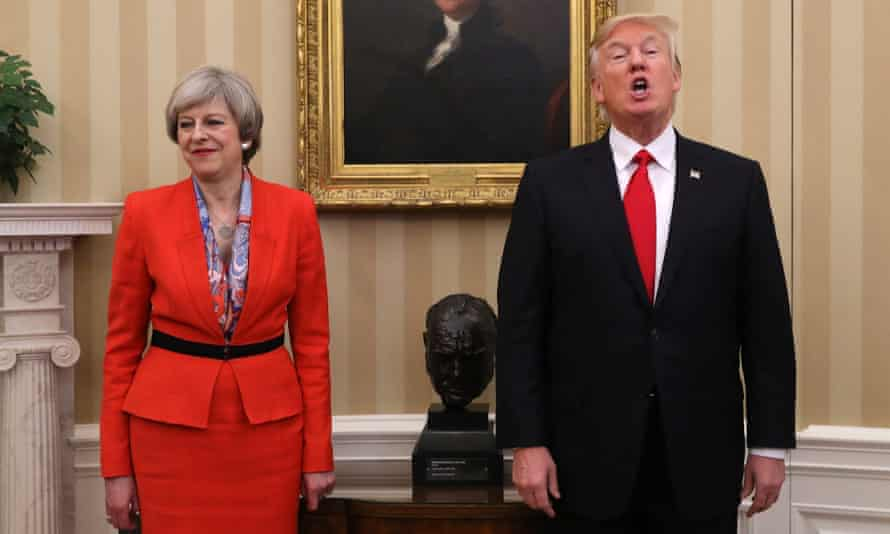 Theresa May at the White House: 'I'd rather you just took me by the hand.'