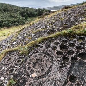 The largest rosette on Ormaig East Rock, Argyll, Scotland.