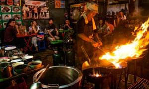 Firepower: a street restaurant in Bangkok's Chinatown.