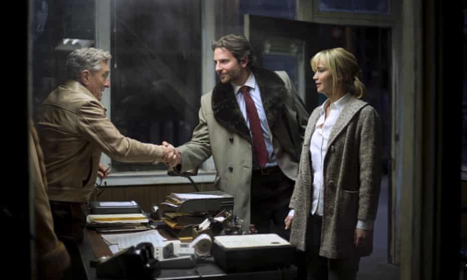 Robert De Niro, Bradley Cooper and Jennifer Lawrence in Joy.