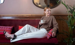Stacey Dooley relaxing with a cup of tea