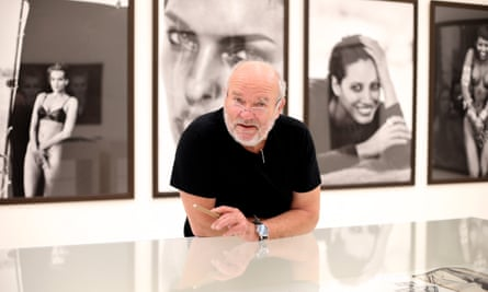 Peter Lindbergh at his exhibition From Fashion to Reality, at Kunsthalle der Hypo-Kulturstiftung in Munich, Germany, in 2017.