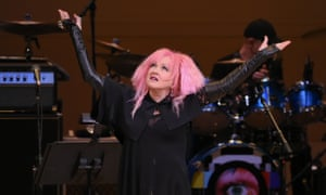 Cyndi Lauper performs Suffragette City at the first of two New York tribute concerts