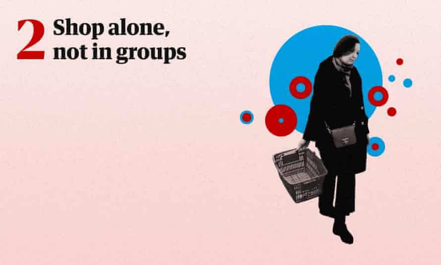 Shop alone, not in groups.