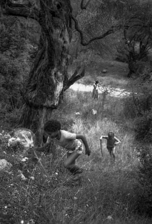 """<strong>Race to the top</strong><br>My boys running up a slope in an olive grove at Barbati, in Corfu, in 1984<br>Photograph: <a href=""""https://witness.theguardian.com/assignment/55b0f634e4b02ab2dca28ece/1637501"""">jameslaa/GuardianWitness</a>"""